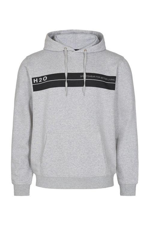 H2O Hoodie Mandø Hooded Sweat Grey Mel Front