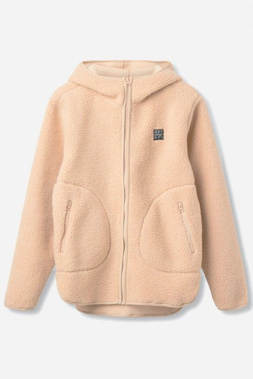 H2O  Jakke  Langli Hooded Pile Jacket  Beige Front