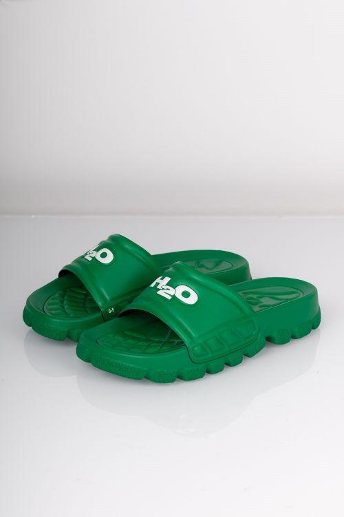 H2o Sandal Trek Green White Front