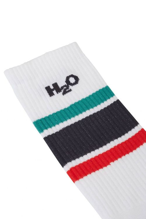 H2O Strømper Crew Sock White/Navy/Green/Red Front