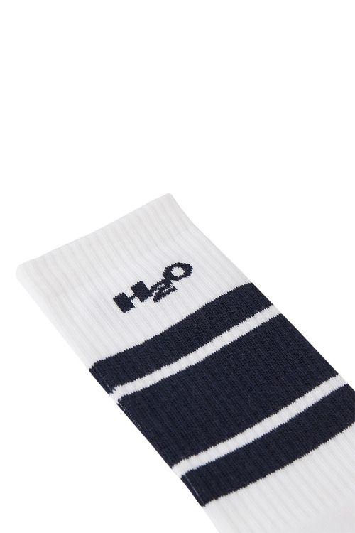 H2O - Strømper - Crew Sock - White/Navy