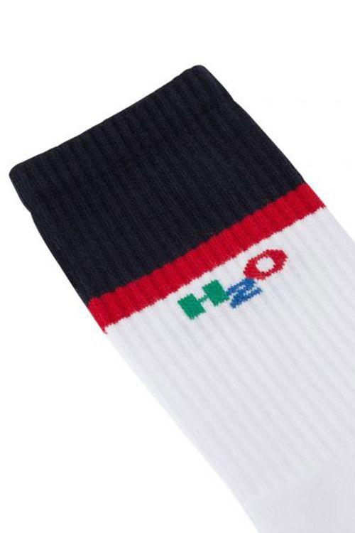 H2O Strømper Henne Crew Sock White/Navy/Red Front