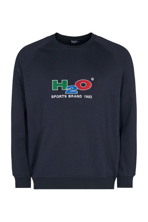 H2O Sweat Alban Sweat O-Neck Navy Front