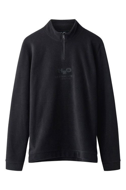 H2O Sweat Blåvand Fleece Half Zip Black Front