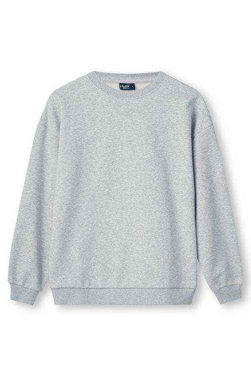 H2O Sweatshirt Base Woman Sweat O'neck Light Grey Melange Front