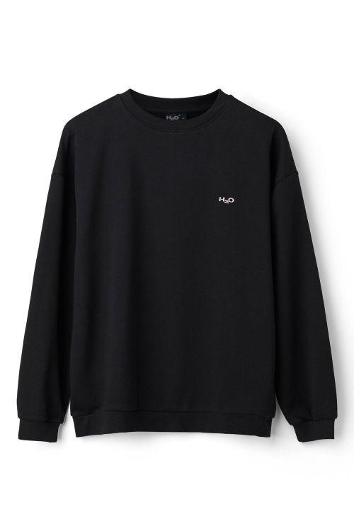 H2O Sweatshirt Base Woman Sweat O'Neck Black Front
