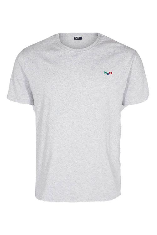H2O T-shirt Lind Tee Grey Melange Front