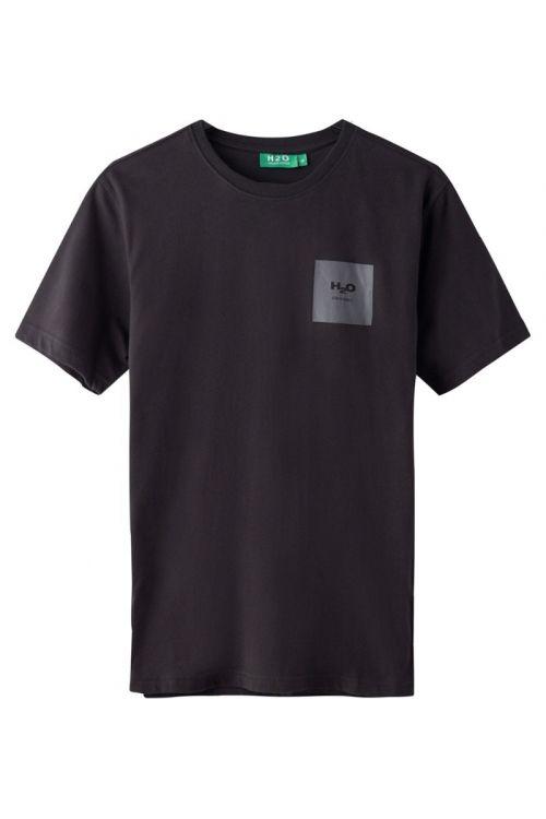 H2O T-shirt Lyø Organic Tee Black/Dark Grey Front