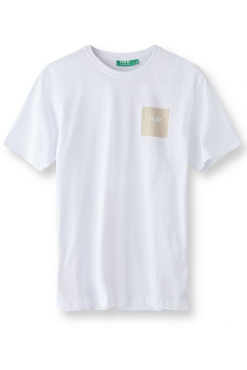 H2O T-shirt Lyø Organic Tee White/Sand Front