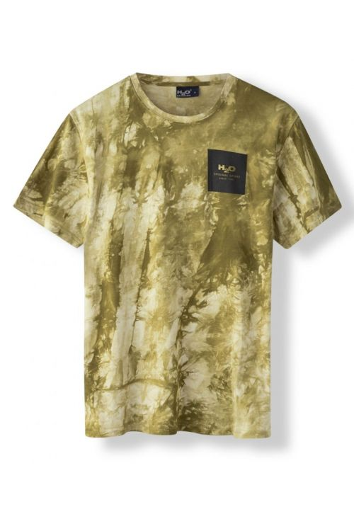 H2O T-Shirt Ribe Tie Dye Tee Army Avocado Front