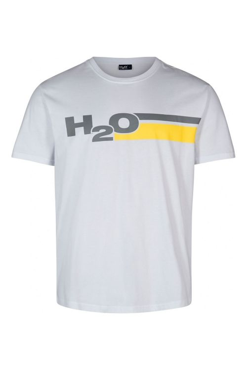 H2O T-shirt Skagen Tee White/Concrete/Citron Front