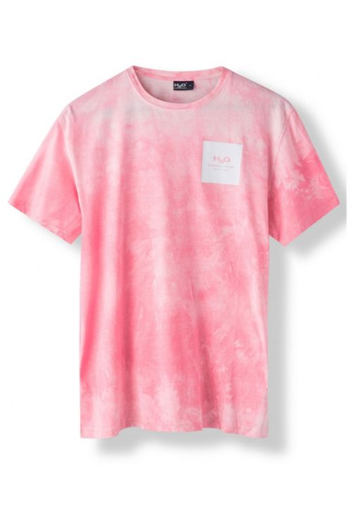 H2O T-Shirt Ribe Tie Dye Tee Sachet Pink Front