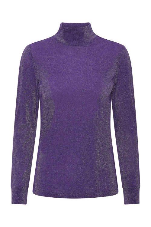 Hunkøn Bluse Carrie blouse Purple Glitter Front
