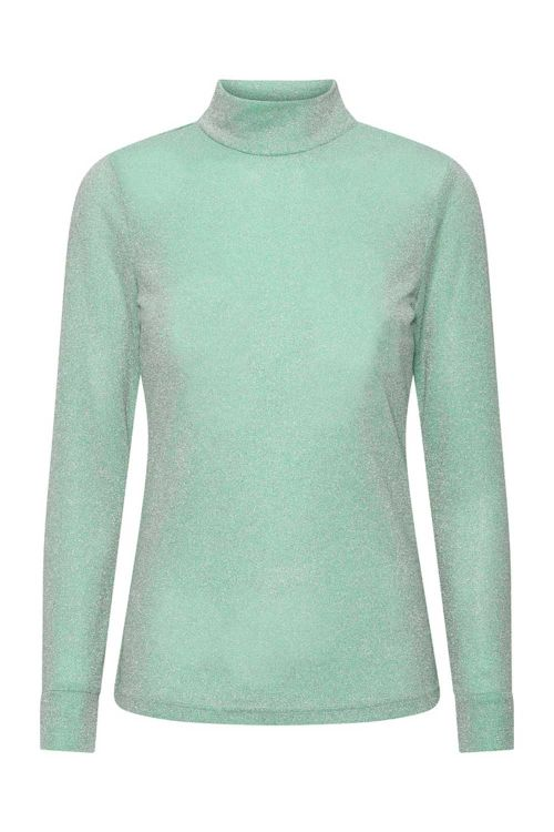 Hunkøn Bluse Carrie Blouse Turquoise Glitter Front