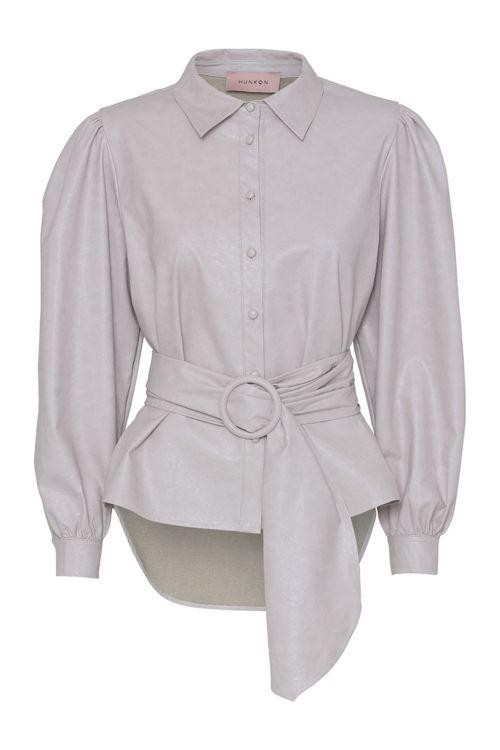 Hunkøn Bluse Naja Shirt Beige Front