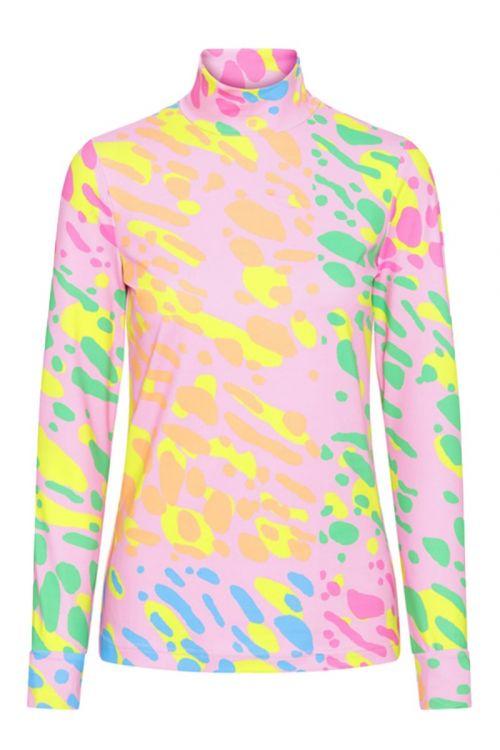 Hunkøn - Bluse - Zapi Yoga Blouse - Mix Stains Art Print
