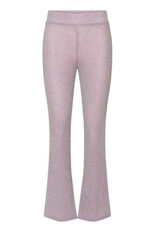 Hunkøn Bukser Carrie Trousers Lavender Glitter Front