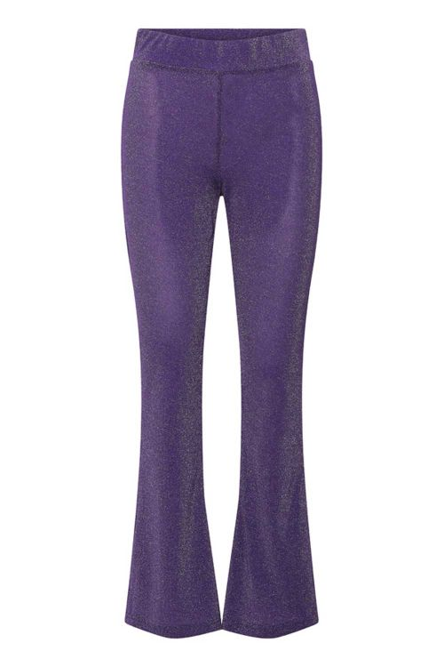 Hunkøn Bukser Carrie Trousers Purple Glitter Front