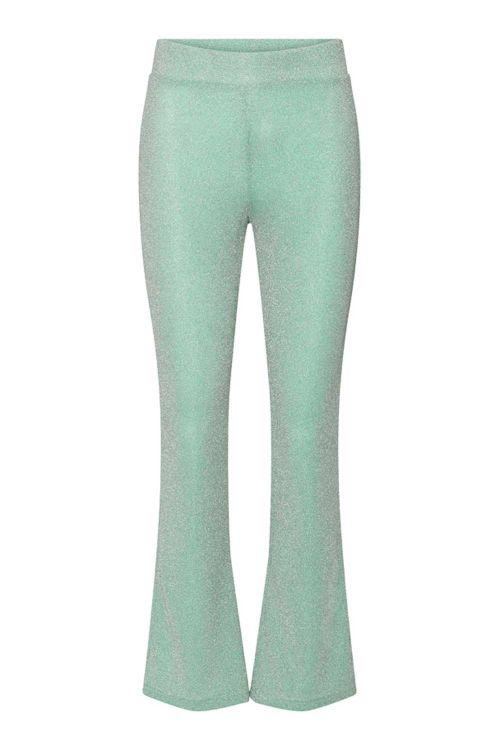 Hunkøn Bukser Carrie Trousers Turquoise Glitter Front