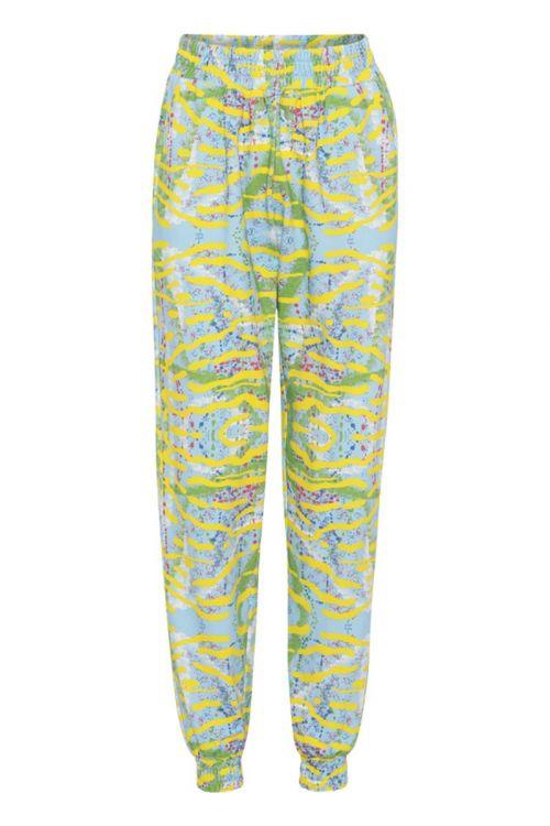 Hunkøn - Bukser - Tanita Sweatpants - Yellow Tiger Art Print