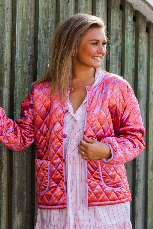 Hunkøn Jakke Molly Velour Short Jacket Rose Hover