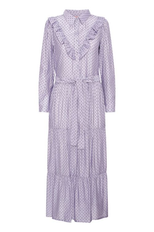 Hunkøn - Kjole - Elmira Dress - Lavender w/ Dots