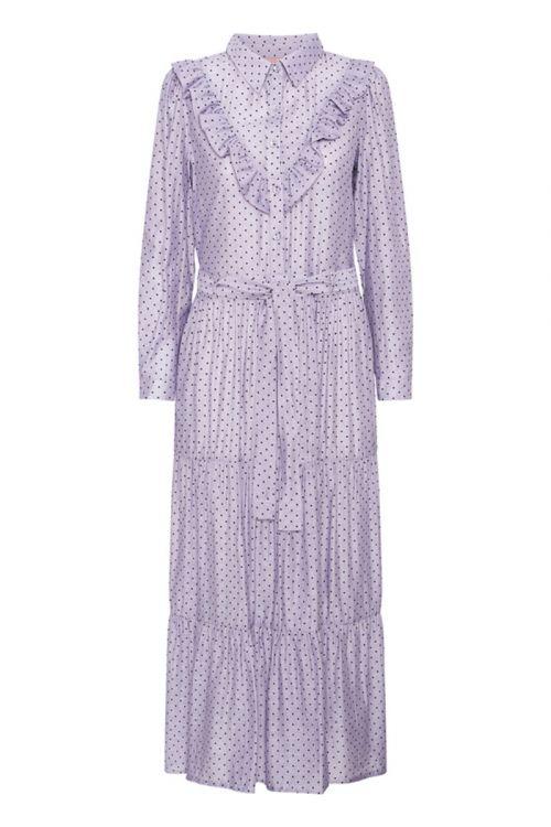 Hunkøn - Kjole - Elmira Dress - Lavender w/ Dots