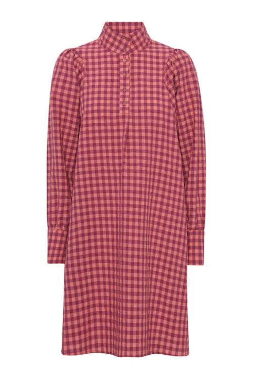 Hunkøn Kjole Paulina Dress Red Checked Front