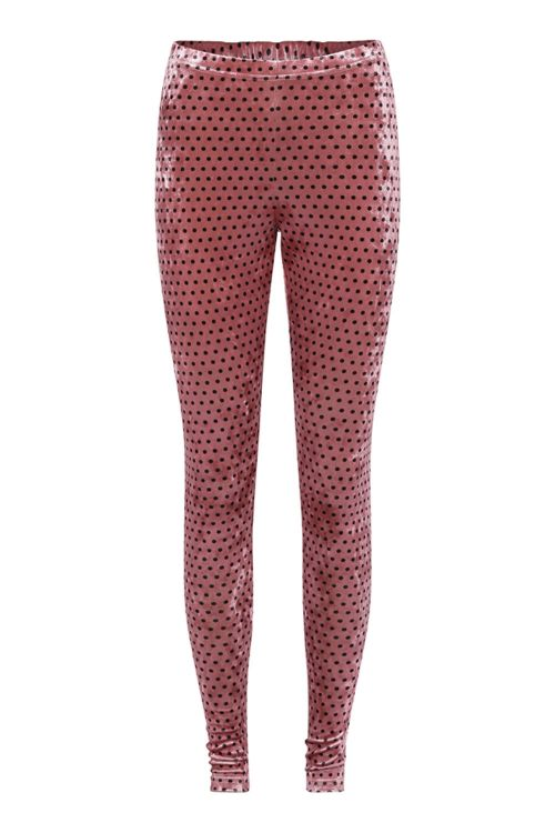 Hunkøn Leggings Maddie Leggings Rose With Dots Front