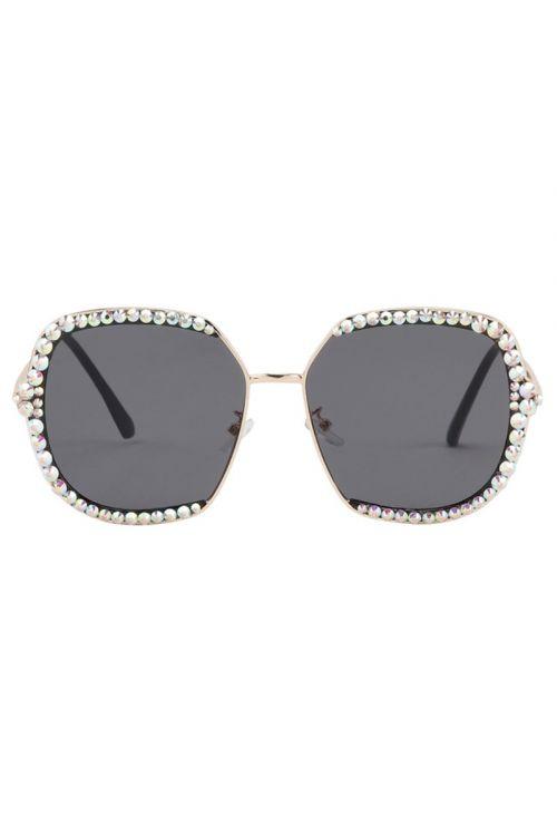 Hunkøn  Solbriller  Elva Sunglasses  Black Front