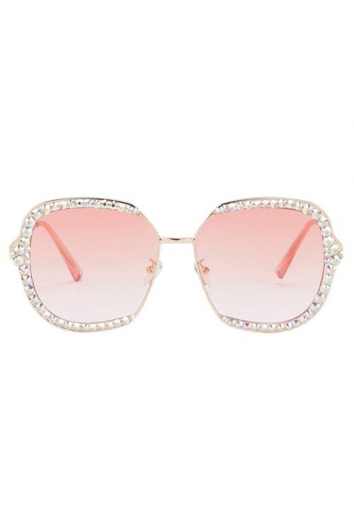 Hunkøn  Solbriller  Elva Sunglasses  Pink Front