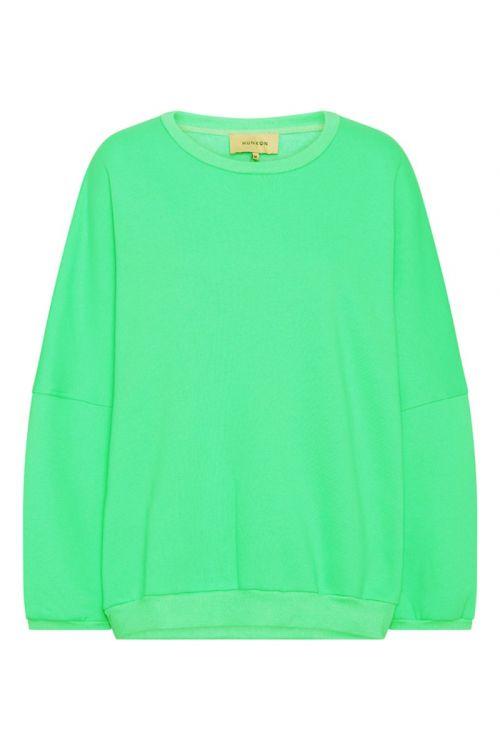 Hunkøn Sweat Ava Sweatshirt Green Front