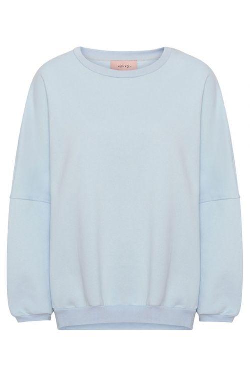 Hunkøn Sweat Ava Sweatshirt Light Blue Front
