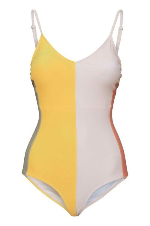 Ichi  Badedragt  Iajonna Block Swimsuit  Yarrow Front