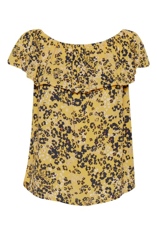 Ichi Bluse Marrakech SS4 Buff Yellow Front