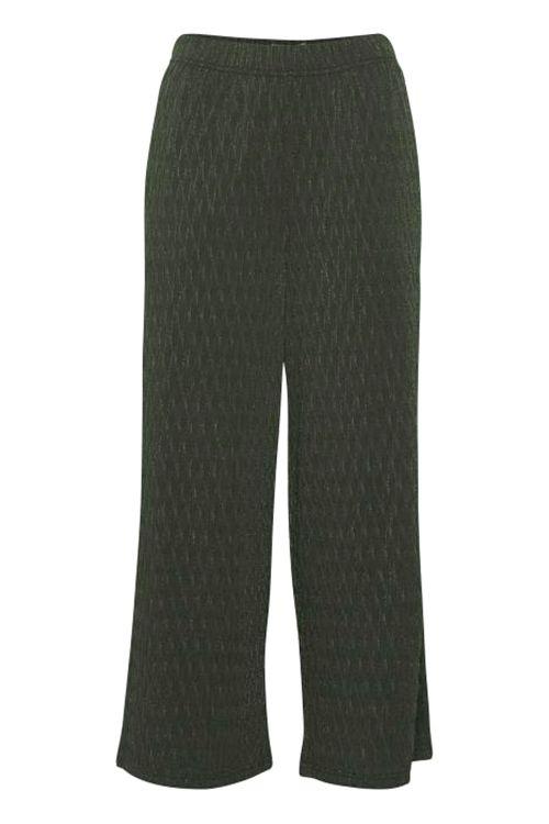 Ichi Bukser IH Tanae Pants Kombu Green Front