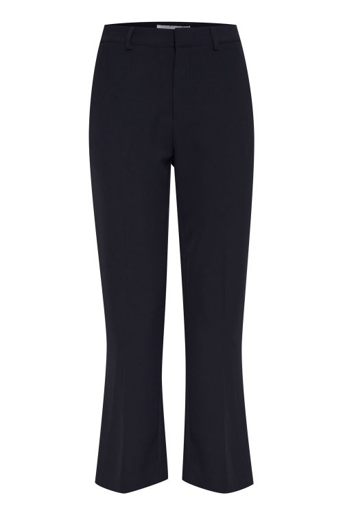 Ichi Bukser Lexi Cropped Pants Black Front