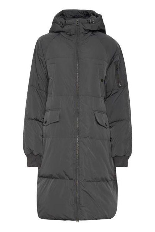 Ichi Jakke IH Bunala Down Jacket Asphalt Front