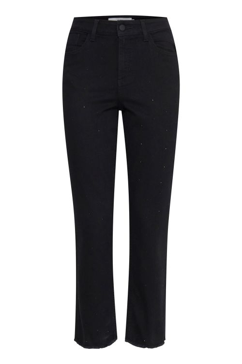Ichi Jeans Glam Raven Straight Black Front