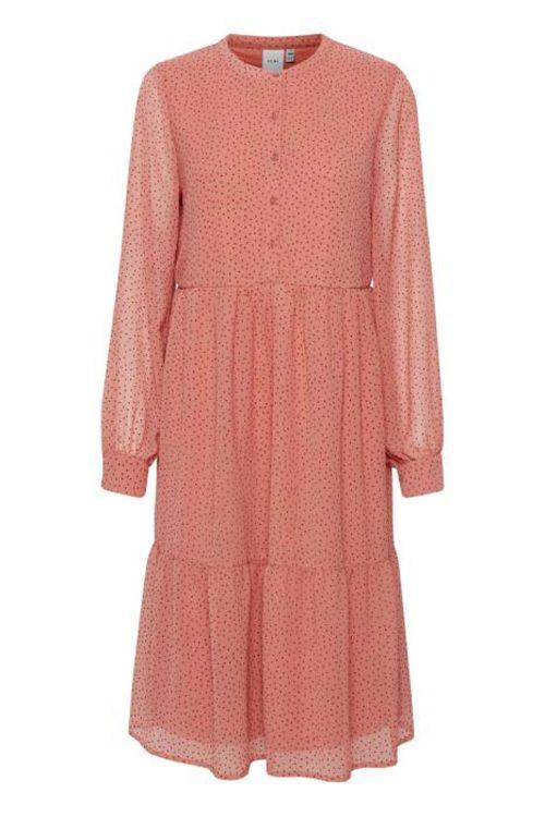 Ichi Kjole Bibi Dress Faded Rose Front