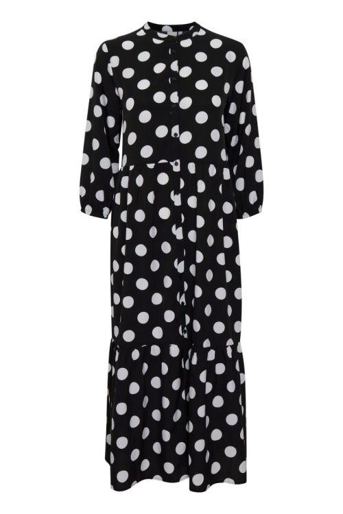 Ichi Kjole Cassidy Dress Black With Dot Front