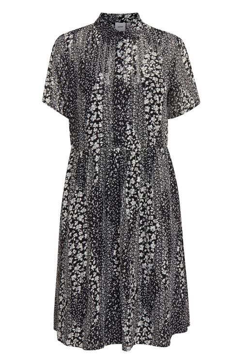 Ichi Kjole Hetty Dress Black Front