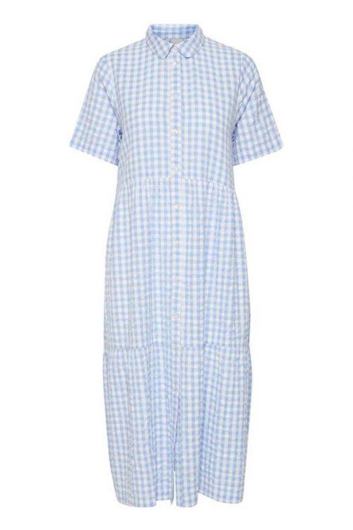 Ichi Kjole Gryana Dress Serenity Front