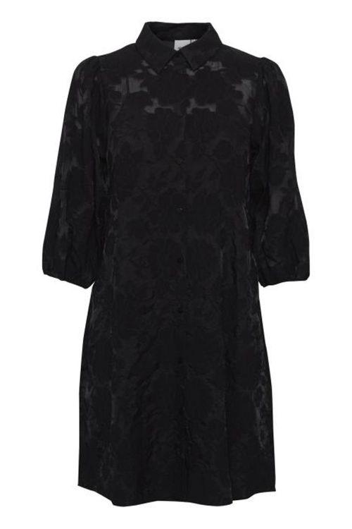 Ichi Kjole IH Hanzila Dress Black Front