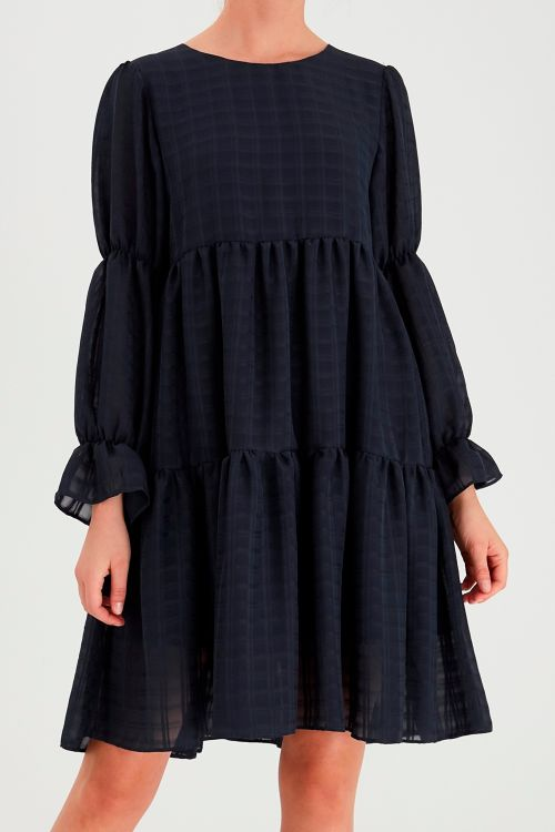 Ichi Kjole IH Isla Dress Total Eclipse Front