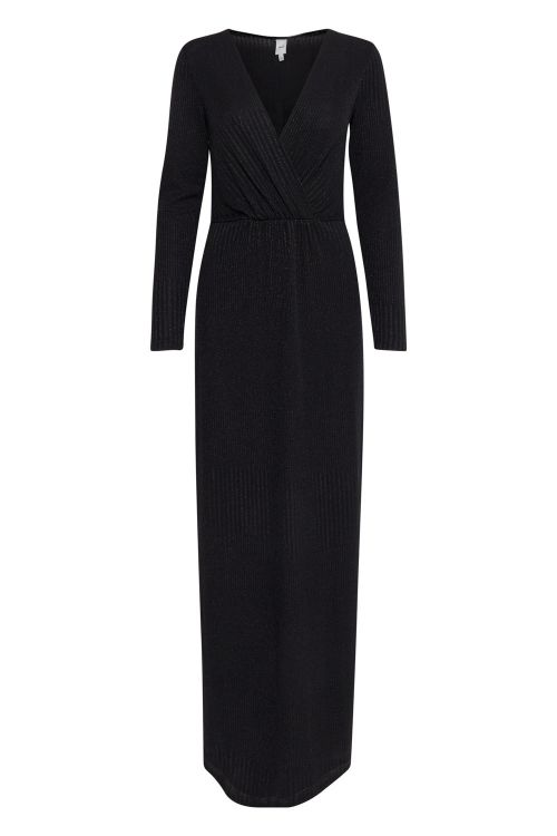 Ichi Kjole Isabella Dress Black Front