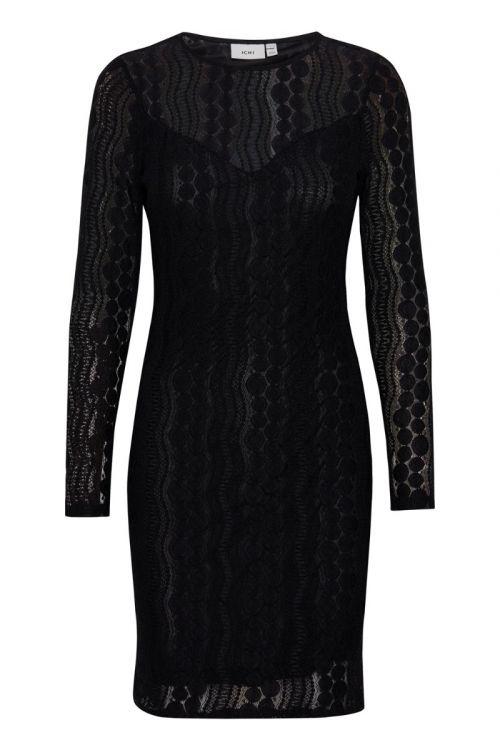 Ichi Kjole IX Janice Dress Black Front