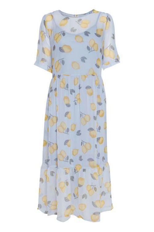 Ichi Kjole Kamala Dress Cashmere Blue Front