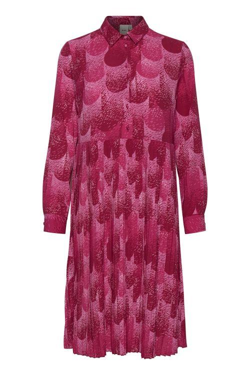 Ichi Kjole Kersti Dress Super Pink Front