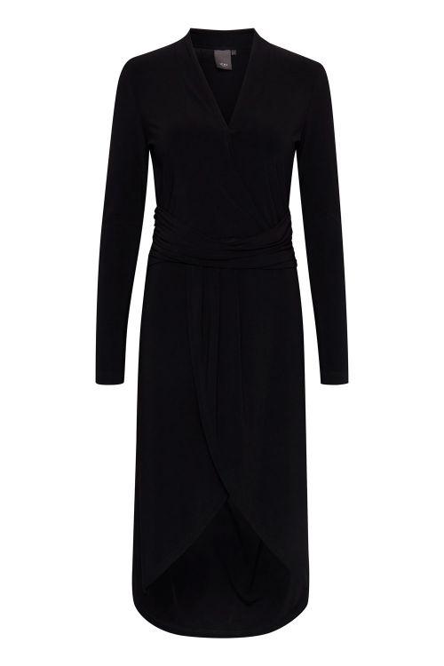 Ichi Kjole IX Lima Long Dress Black Front